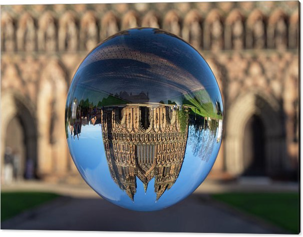Lichfield Acrylic Print featuring the photograph Lichfield lens ball by Steev Stamford