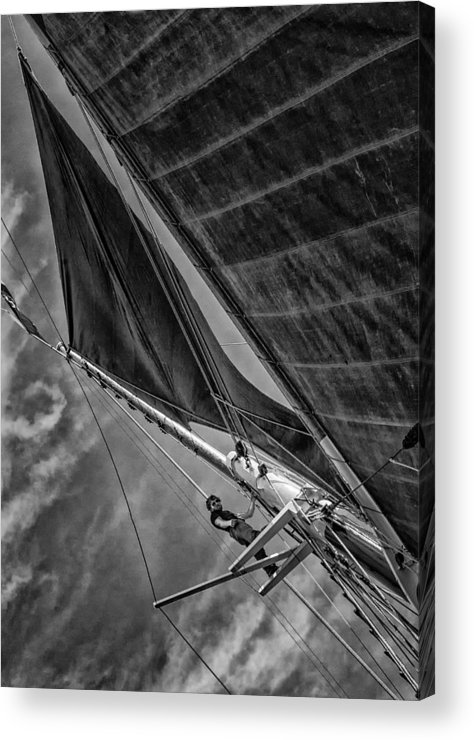 Windjammer Acrylic Print featuring the photograph Aloft by Fred LeBlanc