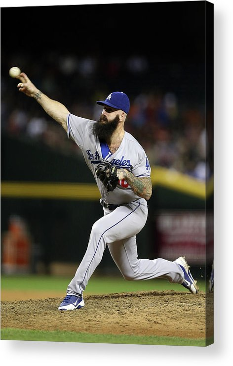 Relief Pitcher Acrylic Print featuring the photograph Los Angeles Dodgers V Arizona 2 by Christian Petersen