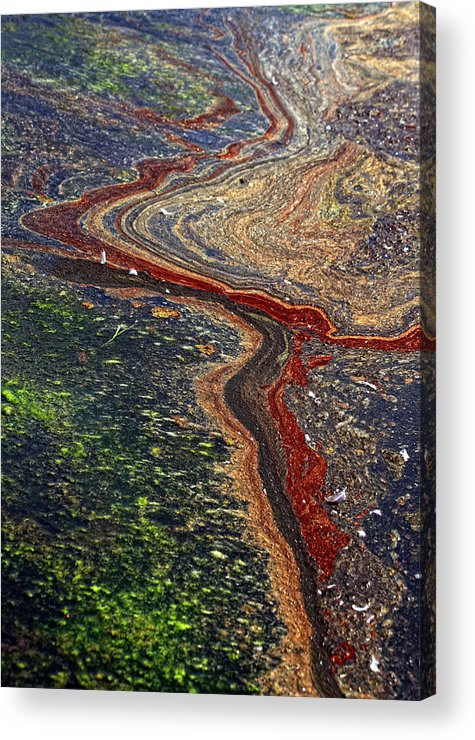River Acrylic Print featuring the photograph River by Kent Mathiesen