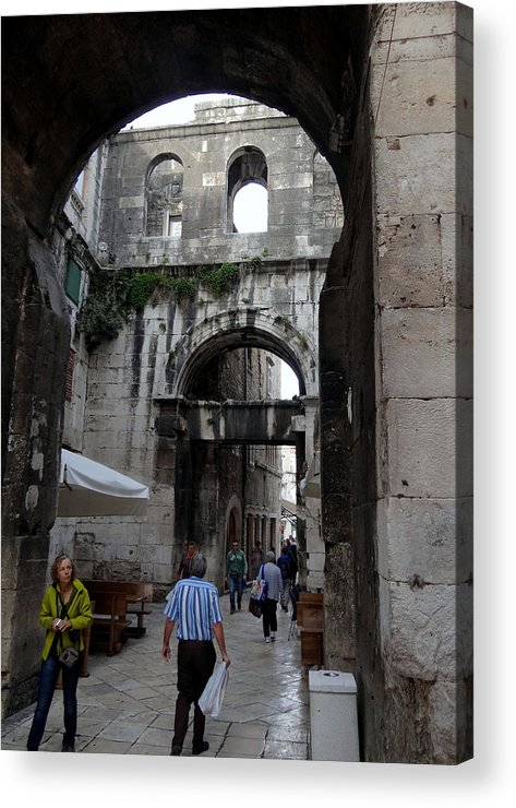 Split Croatia Acrylic Print featuring the photograph Views Of Split Croatia by Richard Rosenshein