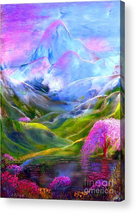 Mountain Acrylic Print featuring the painting Blue Mountain Pool by Jane Small