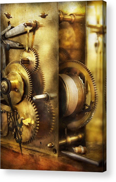 Clockmaker Acrylic Print featuring the photograph Clockmaker - We All Mesh by Mike Savad