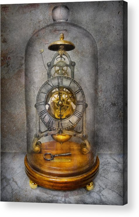 Clockmaker Acrylic Print featuring the photograph Clocksmith - The Time Capsule by Mike Savad