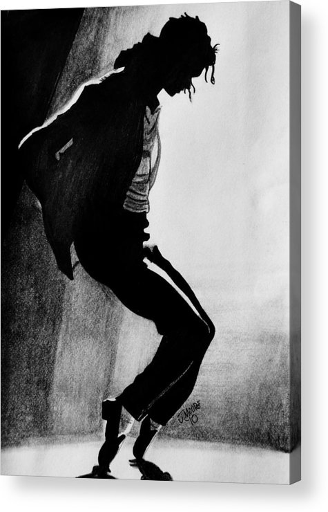 Michael Jackson Dance Tippy Toes Sillouhette Pop Star Music Acrylic Print featuring the drawing Dance by Jeremy Moore