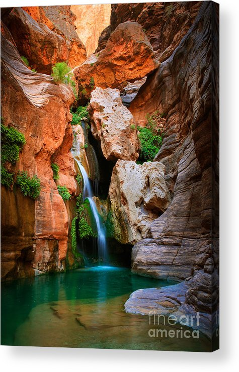 America Acrylic Print featuring the photograph Elves Chasm by Inge Johnsson