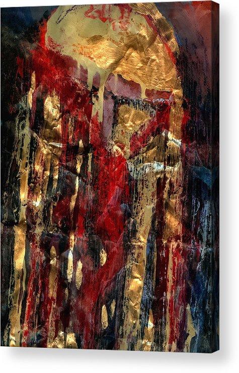 Catholic Art Acrylic Print featuring the painting Golden Rain by Daniel Bonnell