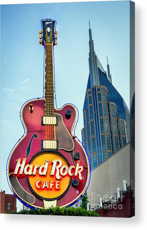 Guitar Acrylic Print featuring the photograph Hard Rock Cafe Nashville by Sophie Doell