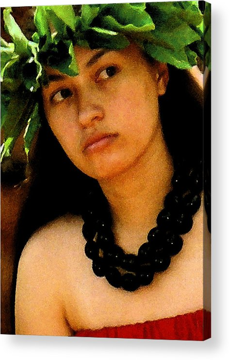 Hawaii Acrylic Print featuring the photograph Kukui Nut Lei by James Temple