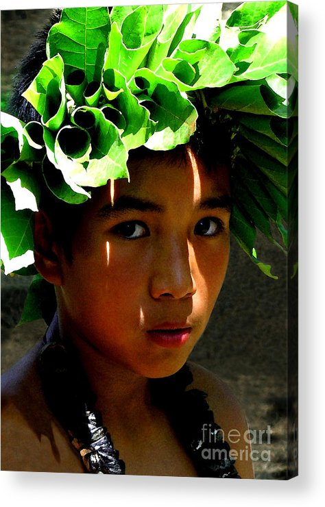 Hawaii Acrylic Print featuring the photograph Molokai Keiki Kane by James Temple