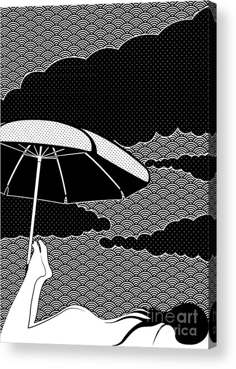 Black Acrylic Print featuring the drawing Nice Dream by Freshinkstain