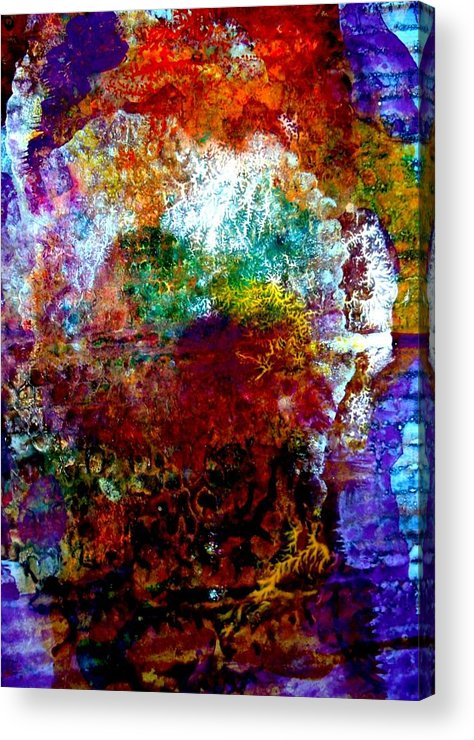 Corrugated Acrylic Print featuring the painting Puffed All Over by Aquira Kusume