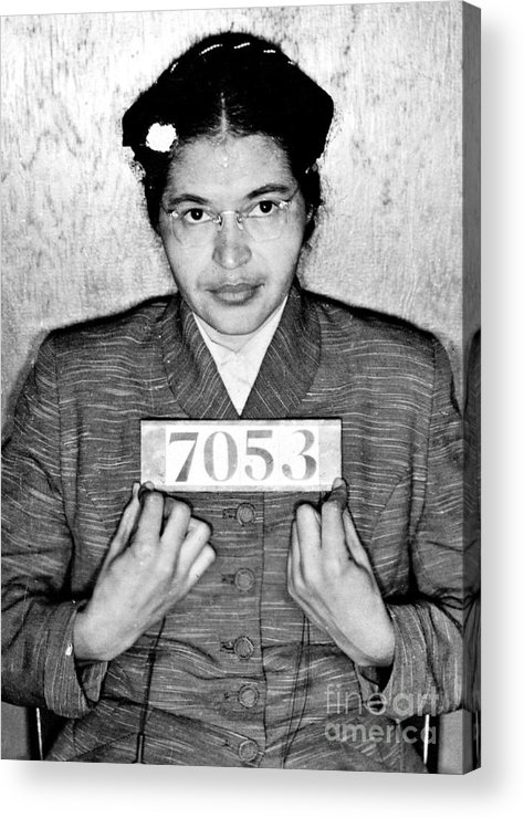 Rosa Acrylic Print featuring the photograph Rosa Parks by Unknown