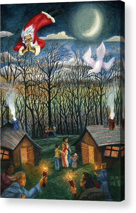 Christmas Acrylic Print featuring the painting Saint Nicholas Praying For The Recovery Of His Tradition by Craig Gallaway