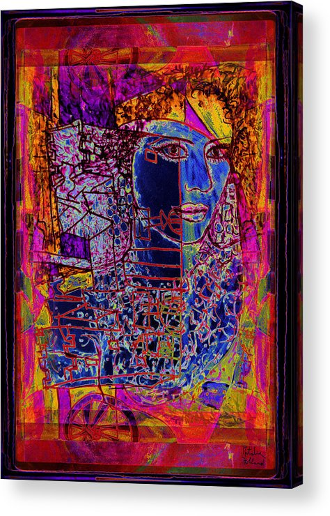 Abstract Woman Acrylic Print featuring the painting Scheherazade by Natalie Holland