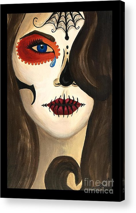 Day Of The Dead Acrylic Print featuring the painting Sweet Sorrow by Dana Hammack