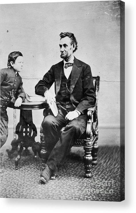 1865 Acrylic Print featuring the photograph Abraham Lincoln by Granger