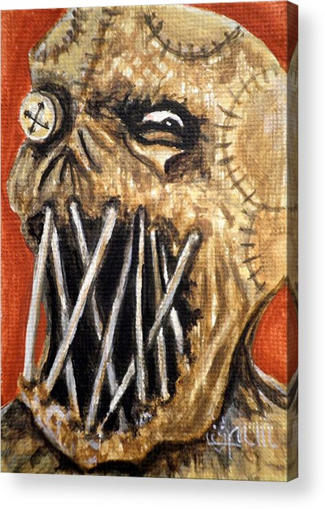 Scarecrow Acrylic Print featuring the painting Beware The Fear by Al Molina