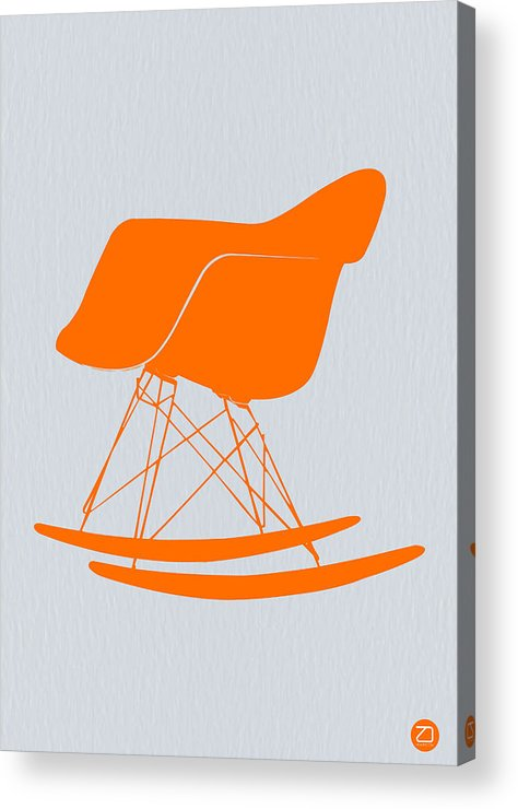 Eames Chair Acrylic Print featuring the photograph Eames Rocking Chair Orange by Naxart Studio