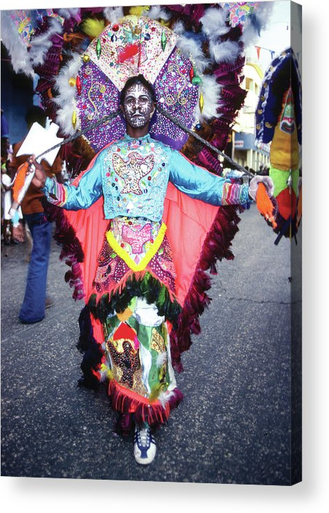Carnival Acrylic Print featuring the photograph Haiti - Carnaval Indian Outfit by Johnny Sandaire