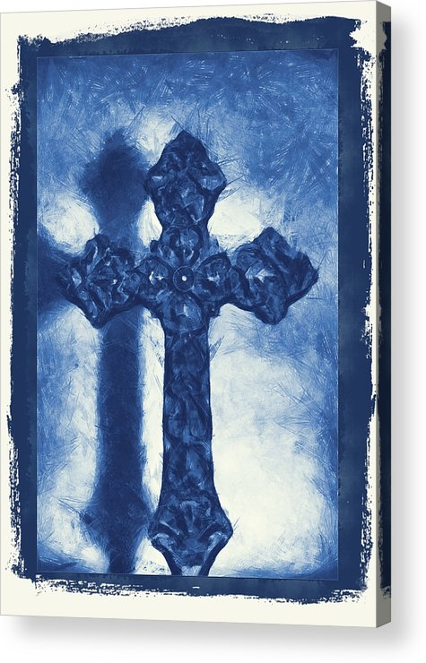 Faith Acrylic Print featuring the mixed media Lead Me To The Cross 3 by Angelina Vick