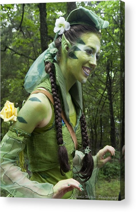 Medeival Acrylic Print featuring the photograph Leprechaun by Charles Warren