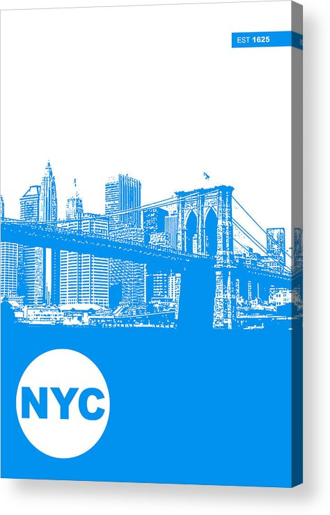Acrylic Print featuring the photograph New York Poster by Naxart Studio