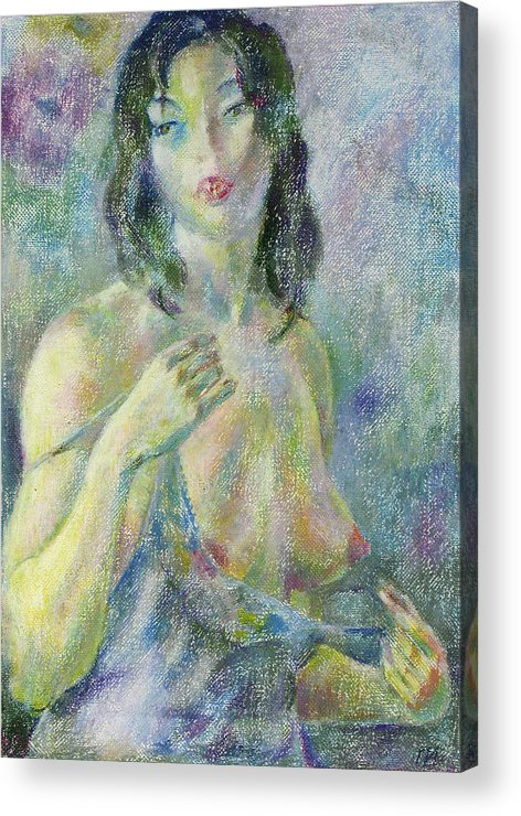 Nude Acrylic Print featuring the painting Nu 94 by Leonid Petrushin