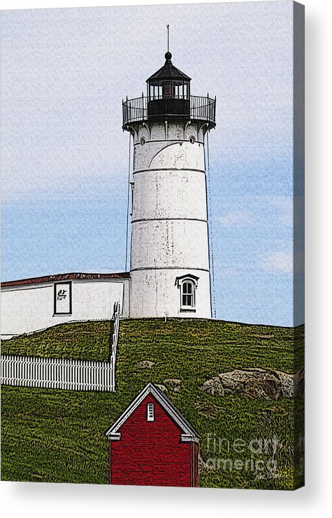 Cape Acrylic Print featuring the photograph Nubble Lighthouse- Canvas by Luke Moore