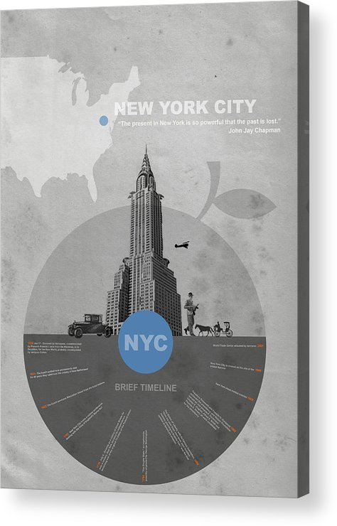 New York Acrylic Print featuring the photograph Nyc Poster by Naxart Studio