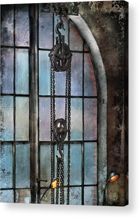 Hdr Acrylic Print featuring the photograph Steampunk - Gear - Importance Of Industry by Mike Savad