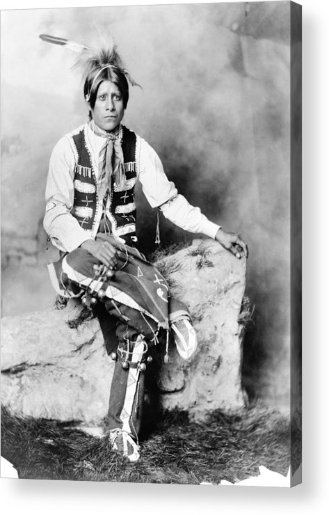 1906 Acrylic Print featuring the photograph Ute Man, C1906 by Granger
