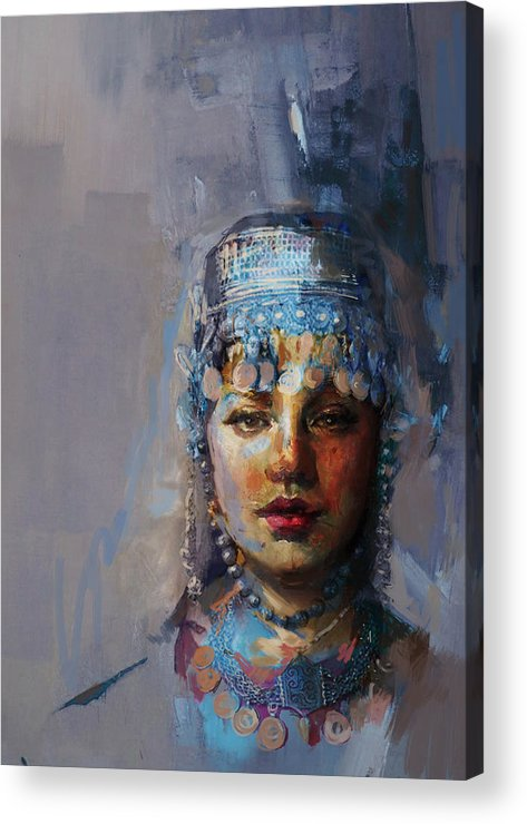 Sindh Acrylic Print featuring the painting 9 Pakistan Folk Khyber Pakhtunkhwac by Mahnoor Shah