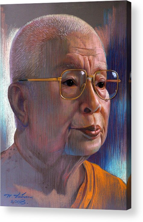 Pastel Acrylic Print featuring the painting Untitled by Chonkhet Phanwichien