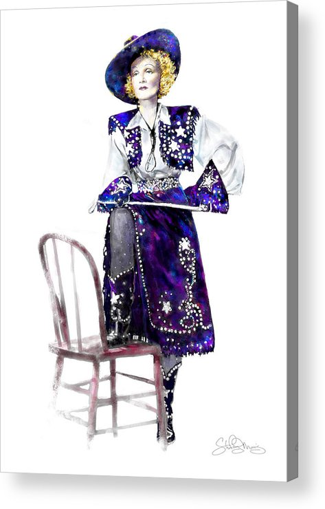 Cowgirl Gifts Acrylic Print featuring the painting A Cowgirl Is A Cowgirl Is A Cowgirl by Shirley Morris