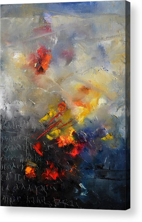 Abstract Acrylic Print featuring the painting Abstract 0805 by Pol Ledent