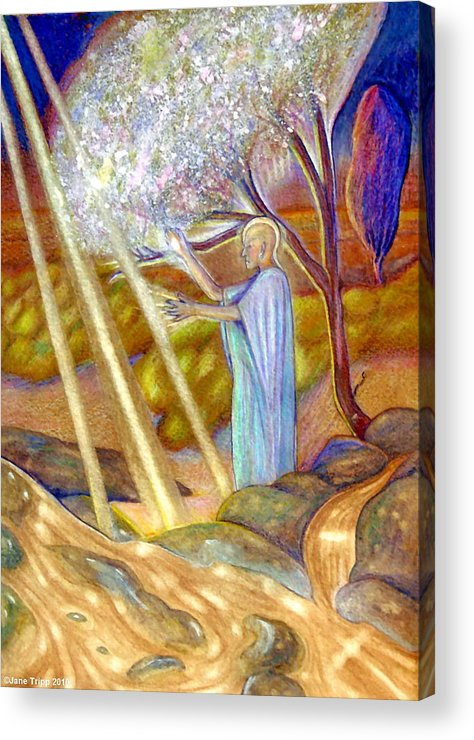 Mythic Art Acrylic Print featuring the painting Balancing Energy by Jane Tripp