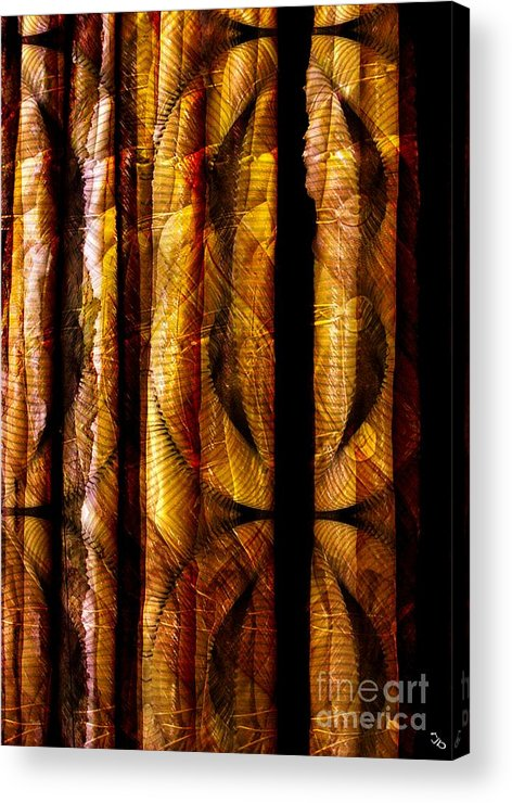 Bamboo Acrylic Print featuring the digital art Bamboo by Ron Bissett