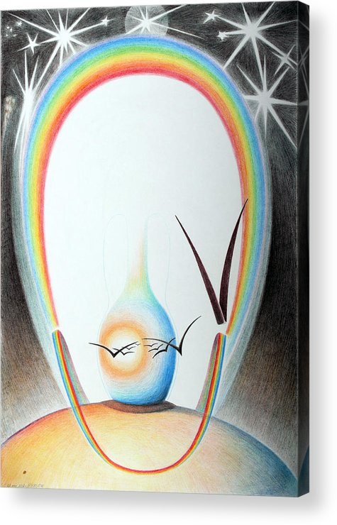 Graphic Arts Acrylic Print featuring the drawing Birth by Sergey Mazalove