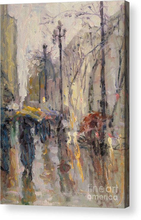 Plein-air Acrylic Print featuring the painting Caught In A Storm Of Wonder by Jerry Fresia
