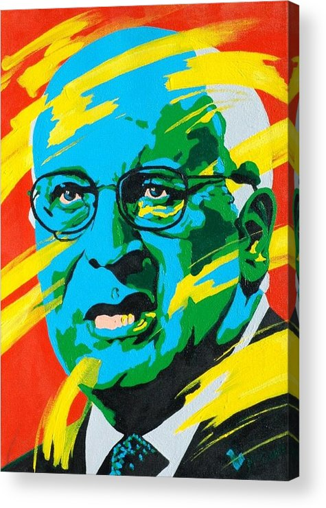 Painting Acrylic Print featuring the painting Cheney by Dennis McCann