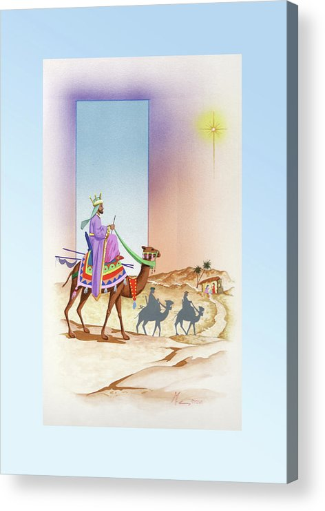 Christmas Acrylic Print featuring the painting Christmas 3 by Laura Greco