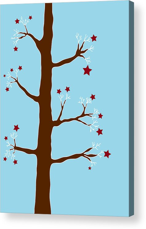 Christmas Acrylic Print featuring the painting Christmas Tree by Frank Tschakert