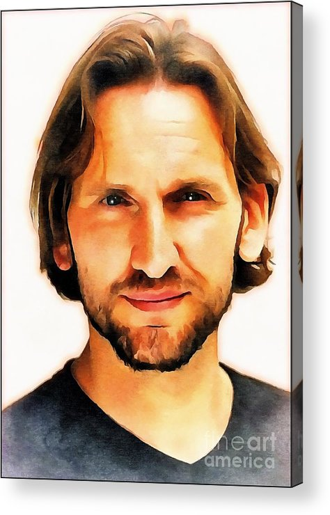 Doctor Who Acrylic Print featuring the digital art Christopher Eccleston by Robert Radmore