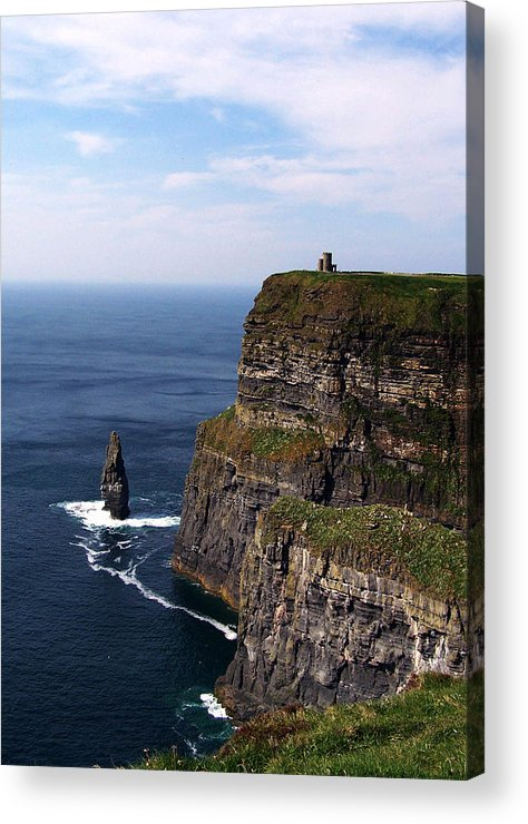 Irish Acrylic Print featuring the photograph Cliffs Of Moher County Clare Ireland by Teresa Mucha