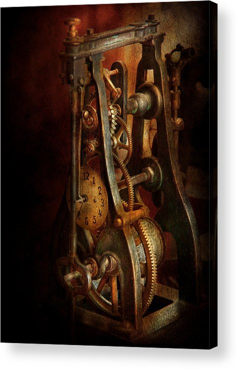 Hdr Acrylic Print featuring the photograph Clockmaker - Careful I Bite by Mike Savad