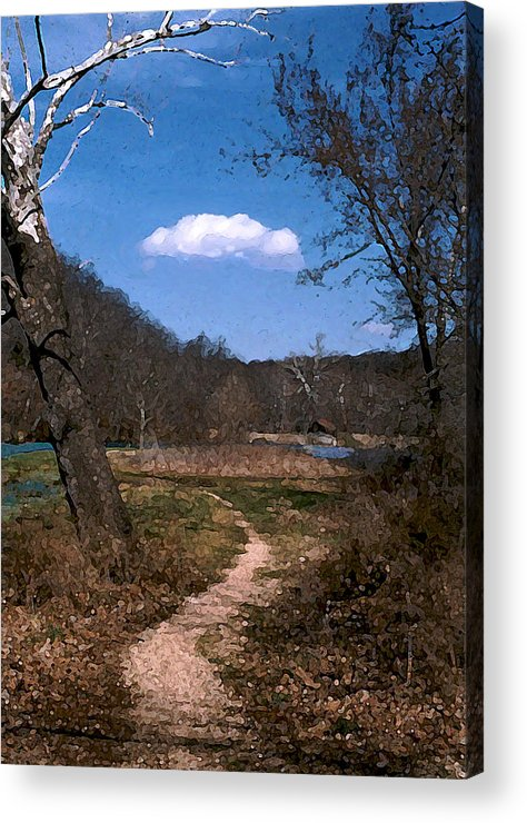 Landscape Acrylic Print featuring the photograph Cloud Destination by Steve Karol