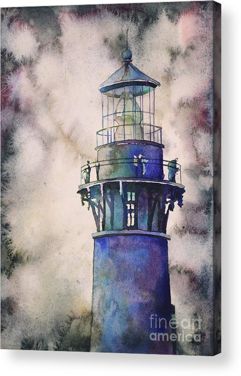 Art For House Acrylic Print featuring the painting Currituck Lighthouse-outer Banks, Nc by Ryan Fox