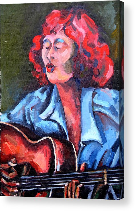 Blues Musician Acrylic Print featuring the painting Eleanor Ellis - Diving Duck Blues by Jackie Merritt