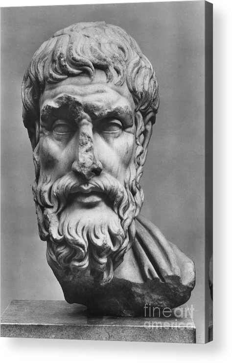 3rd Century B.c Acrylic Print featuring the photograph Epicurus (342?-270 B.c.) by Granger